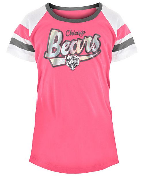 5th & Ocean Chicago Bears Pink Foil T Shirt, Girls (4 16) Sports  supplier
