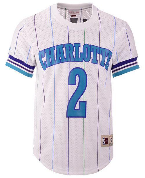 timeless design 86e80 cbdb2 Mitchell & Ness Men's Larry Johnson Charlotte Hornets Name ...