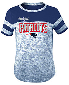 5th & Ocean New England Patriots Space Dye Glitter T-Shirt, Girls (4-16)