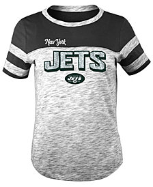 5th & Ocean New York Jets Space Dye Glitter T-Shirt, Girls (4-16)