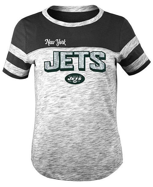 5th & Ocean New York Jets Space Dye Glitter T-Shirt, Girls (4-16)