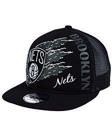 New Era Brooklyn Nets Swipe Trucker 9FIFTY Snapback Cap