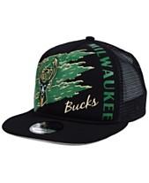 New Era Milwaukee Bucks Swipe Trucker 9FIFTY Snapback Cap ae89b3386043