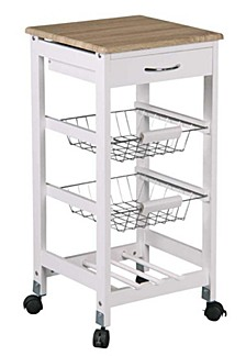 Home Basics Kitchen Trolley with Drawers and Baskets