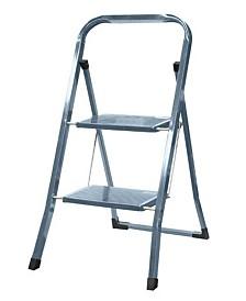 Home Basics 2-Step Steel Ladder, Silver-Tone