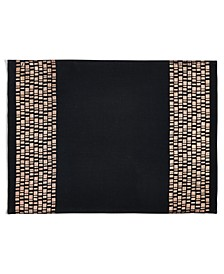 CLOSEOUT! Black Placemat with Bronze, Created for Macy's