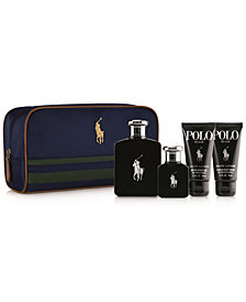 Ralph Lauren Men's 5-Pc. Polo Black Travel Set