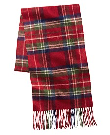 Club Room Men's Printed Cashmere Scarf, Created for Macy's