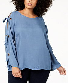 Love Scarlett Plus Size Tie-Sleeve Top