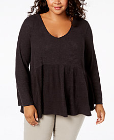 John Paul Richard Plus Size Empire-Waist Top