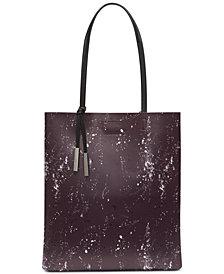Calvin Klein Nora Logo Leather Tote