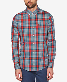 Original Penguin Men's P55 Jaspé Plaid Pocket Shirt