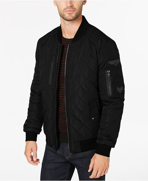 2345a8fa10db Calvin Klein Men s Quilted Patch Bomber Jacket   Reviews - Coats ...
