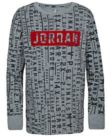 Jordan Big Boys Printed Logo-Print T-Shirt