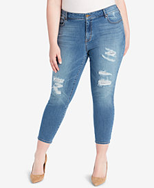 WILLIAM RAST Plus Size Cropped Skinny Jeans