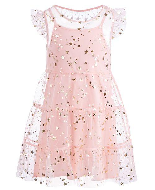 bdab4a230120 ... Epic Threads Toddler Girls Flutter-Sleeve Star-Print Dress
