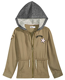 Epic Threads Big Girls Hooded Canvas Jacket, Created for Macy's