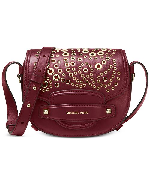 71e16b371d Michael Kors Embellished Leather Saddle Crossbody   Reviews ...