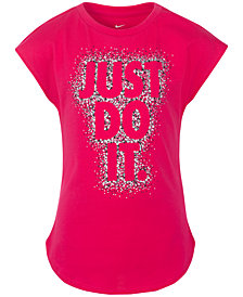 Nike Little Girls Just Do It-Print T-Shirt