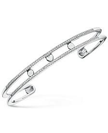 Women's Custom Kors Pavé Sterling Silver Nesting Bracelet Jacket
