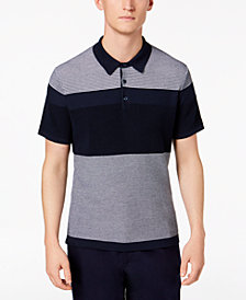 Michael Kors Men's Colorblocked Mix-Stitch Supima Cotton Polo