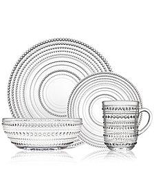 Godinger Lumina 16-Pc. Crystal Dinnerware Set