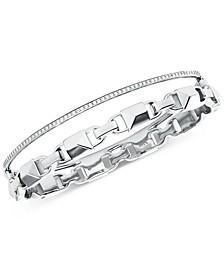 Women's Mercer Link Double Row Sterling Silver Bracelet