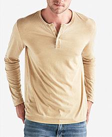 Lucky Brand Men's Long-Sleeve Burnout Henley