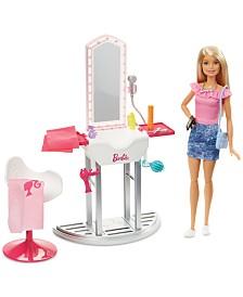 Barbie Doll & Salon Playset