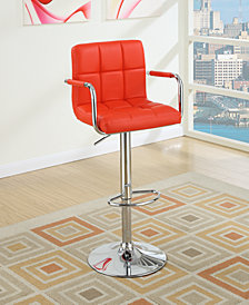 Tufted Bar Stool, Red