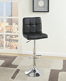 Tufted Bar Stool, Black