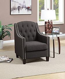 Nailhead Armchair, Black Ash