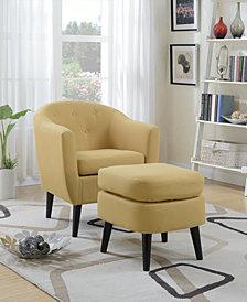 Chair+Cocktail Ottoman, Citrus