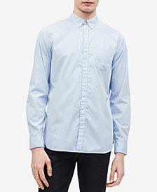 Calvin Klein Men's French Placket Monogrammed Shirt