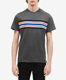 Calvin Klein Men's Striped Chest T-Shirt