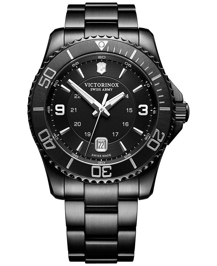 Victorinox Swiss Army - Men's Swiss Maverick Black Edition Black PVD Stainless Steel Bracelet Watch 43mm