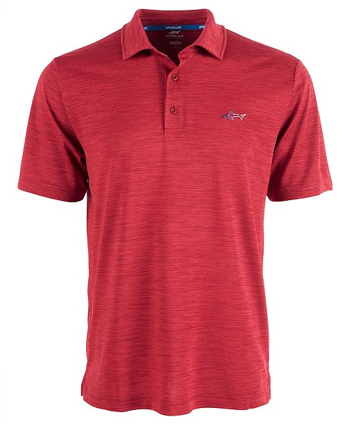Greg Norman Men's 5 Iron Space-Dye Performance Golf Polo, Created for Macy's