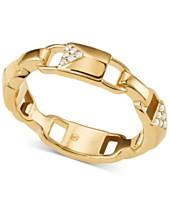 dbf6db5b350b0 Michael Kors Women s Mercer Link Sterling Silver Padlock Ring