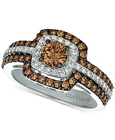 Chocolatier® Diamond Halo Ring (1-1/4 ct. t.w.) in 14k White Gold