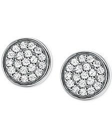 Michael Kors Women's Sterling Silver Pavé Studs