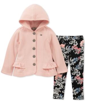Calvin Klein Toddler Girls 2Pc Hooded Fleece Jacket  Leggings Set