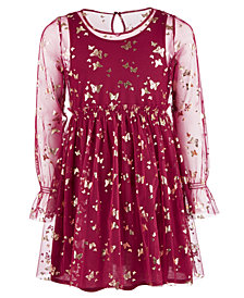 Epic Threads Big Girls Butterfly-Print Mesh Dress, Created for Macy's