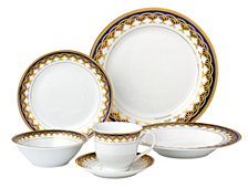 Lorren Home Trends Iris 24-Pc. Dinnerware Set, Service for 4