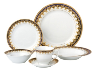 Lorren Home Trends Iris 24Pc Dinnerware Set Service for 4
