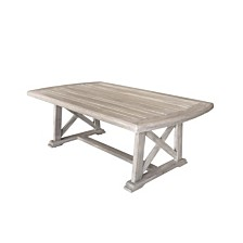 Courtyard Casual Driftwood Teak Surf Side Outdoor Coffee Table