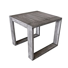 Driftwood Teak Modern North Shore Outdoor Side Table