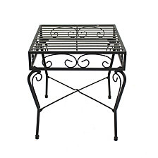 Courtyard Casual Steel French Quarter Outdoor End Table