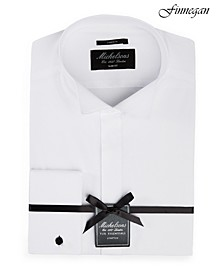of London Men's Slim-Fit Stretch Solid French Cuff Tuxedo Shirt