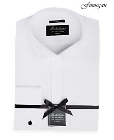 Michelsons of London Men's Slim-Fit Stretch Solid French Cuff Tuxedo Shirt