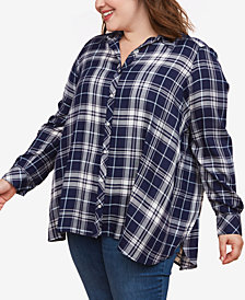 Motherhood Maternity Plus Size Button-Front Nursing Top